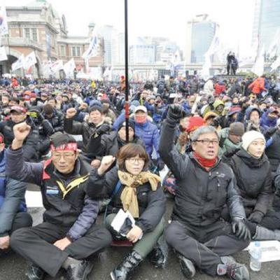 Профсоюз работников Корейской национальной железнодорожной корпорации начал бессрочную забастовку