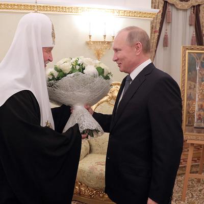 Путин лично поздравил патриарха Московского и всея Руси Кирилла с днем рождения