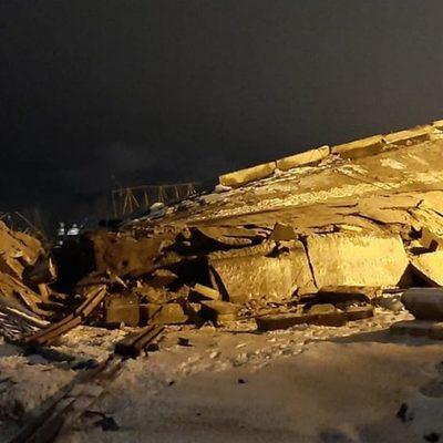 В Оренбурге после частичного обрушения моста введён режим ЧС