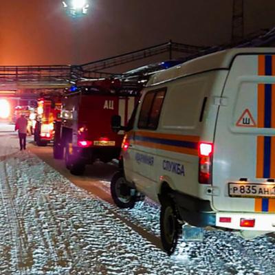 Пожар в Новгородской области, есть пострадавшие