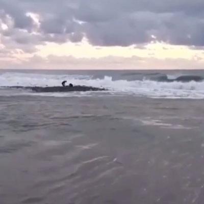 Поиск двух детей, пропавших в море в Сочи, приостановлен из-за плохой погоды