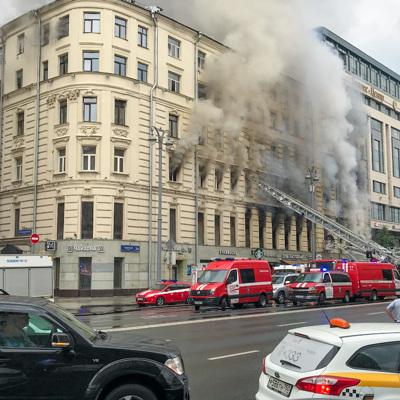 Движение по Тверской улице, где произошел крупный пожар, частично восстановлено