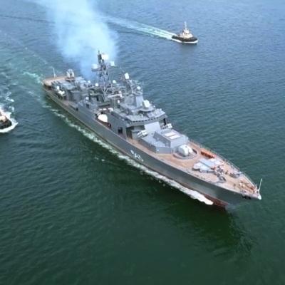 В Финском заливе прошла третья тренировка Главного военно-морского парада