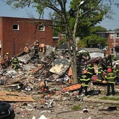 Мощный взрыв произошёл в американском городе Балтимор, штат Мэриленд