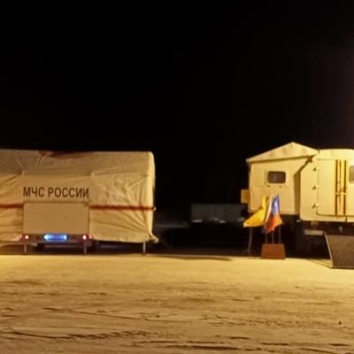 На трассе Оренбург-Орск МЧС развернуло пункты обогрева для автомобилистов