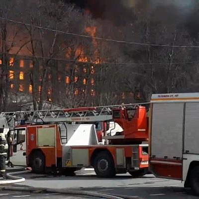 Число погибших при пожаре в здании