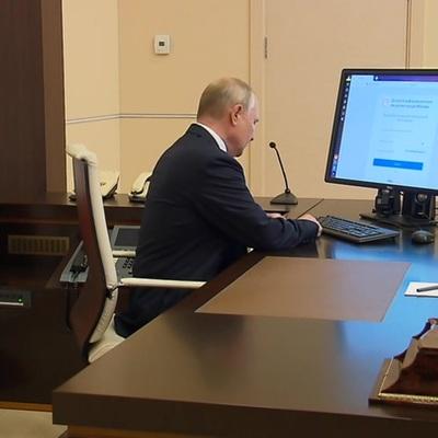 Владимир Путин проголосовал онлайн на выборах депутатов Госдумы