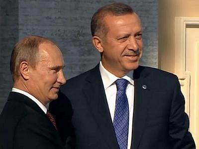 Путин и Эрдоган отметили эффективное взаимодействие РФ и Турции в сирийском урегулировании