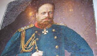 Санкт-Петербург. Портрет императора Александра III в мозаичной мастерской АХ