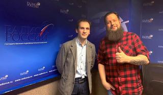 """Кирилл Баранников  и Анатолий Круглов в студии """"Радио России"""""""