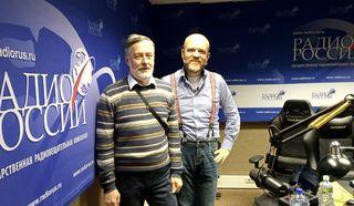 """Михаил Бредис и Дмитрий Конаныхин в студии """"Радио России"""""""