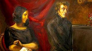"""Эжен Делакруа. """"Фредерик Шопен и Жорж Санд"""" (1838). Лувр, Париж"""