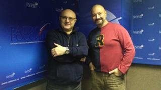 """Николай Мамулашвили и Георгий Рагозин в студии """"Радио России"""""""