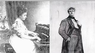 За роялем Вера Тиманова и Федор Шаляпин