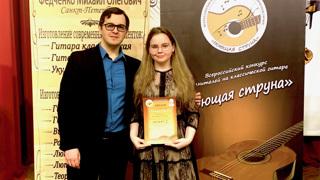 Лиза Благовенко и её педагог. Фото - Анна Благовенко.