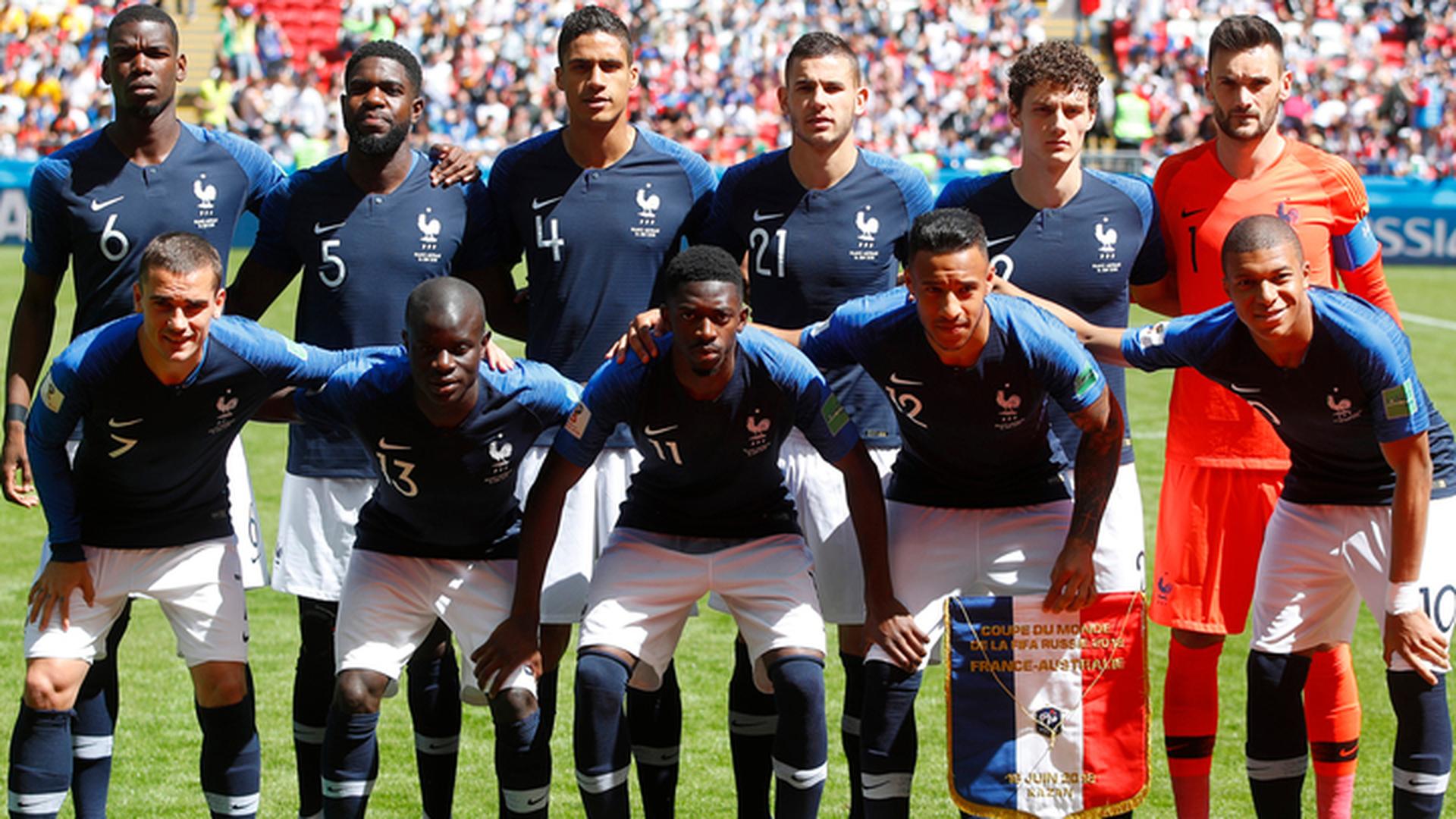 Сборная Франции объявила состав на полуфинал против Бельгии