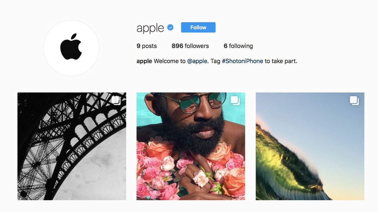 Apple создала собственный аккаунт в социальная сеть Instagram