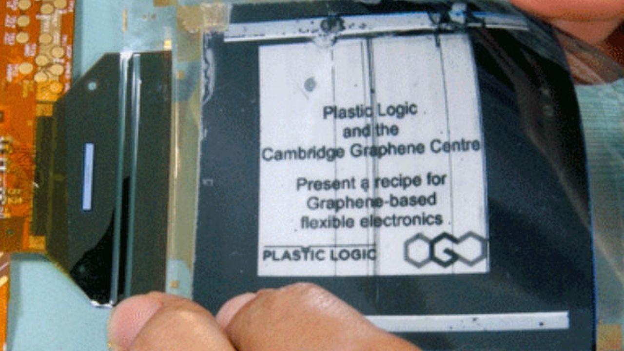 Создан первый гибкий дисплей на основе графена