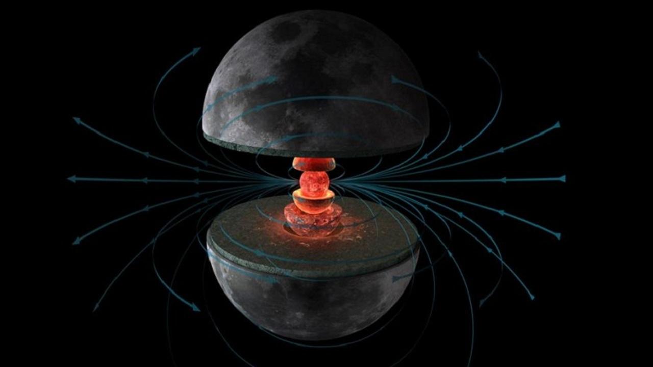 Миллиарды лет назад у Луны было мощное магнитное поле