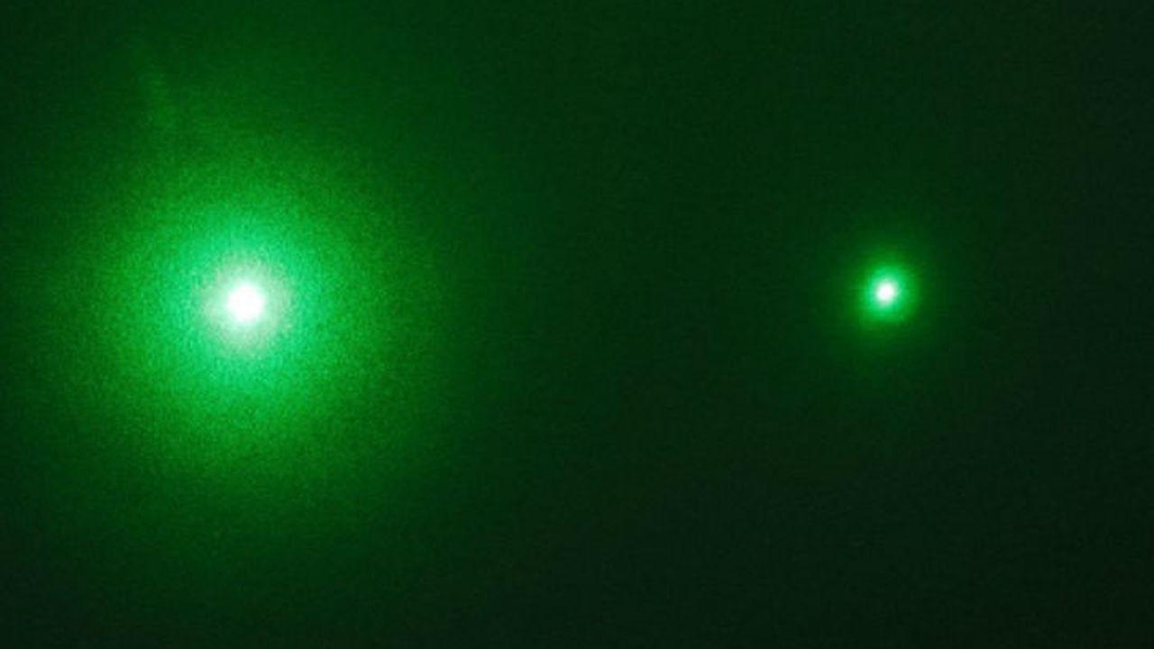 """""""Выстрел"""" лазерного луча впервые запечатлели на камеру"""