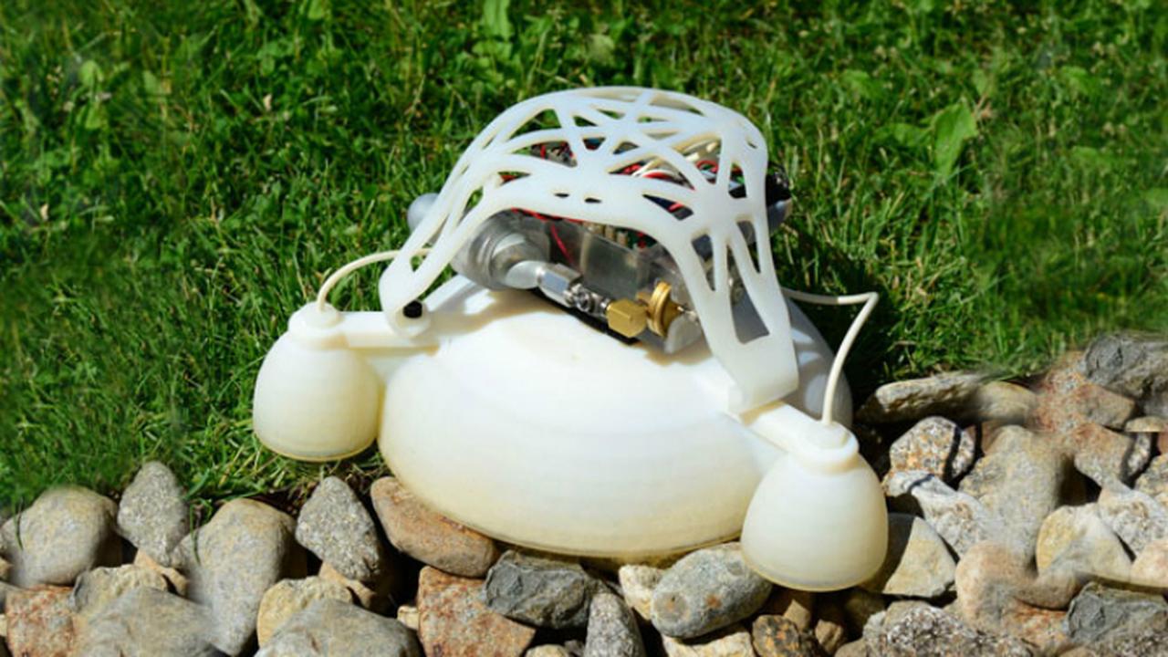 Новый 3D-печатный робот прыгает подобно лягушке