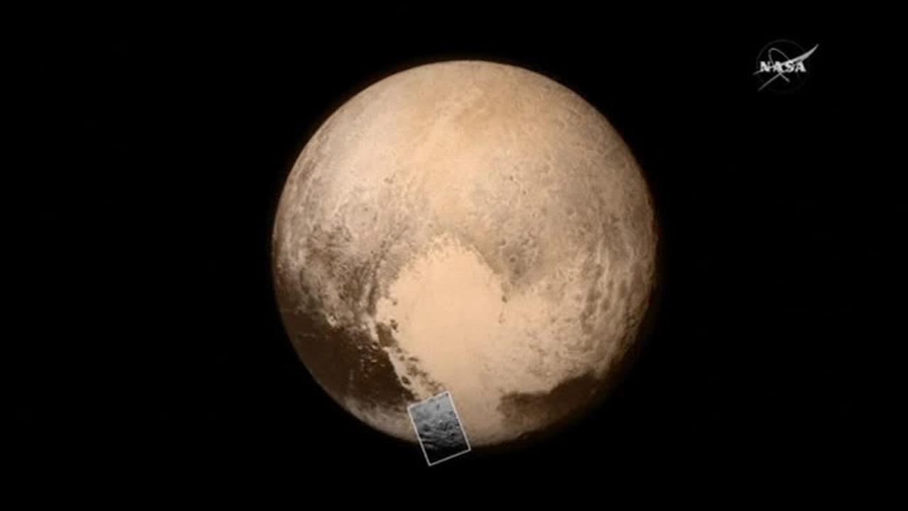 New Horizons обнаружил на Плутоне ледяную гору возрастом в 100 миллионов лет