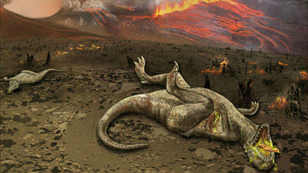 Динозавры начали вымирать до падения метеорита, который их окончательно добил