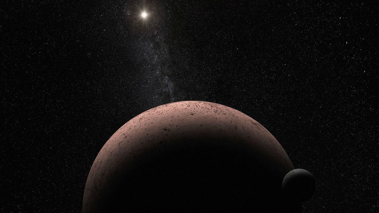 Астрономы нашли чёрный спутник у карликовой планеты Макемаке