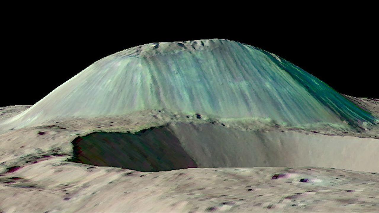 На карликовой планете Церере замечен гигантский вулкан изо льда, соли и грязи