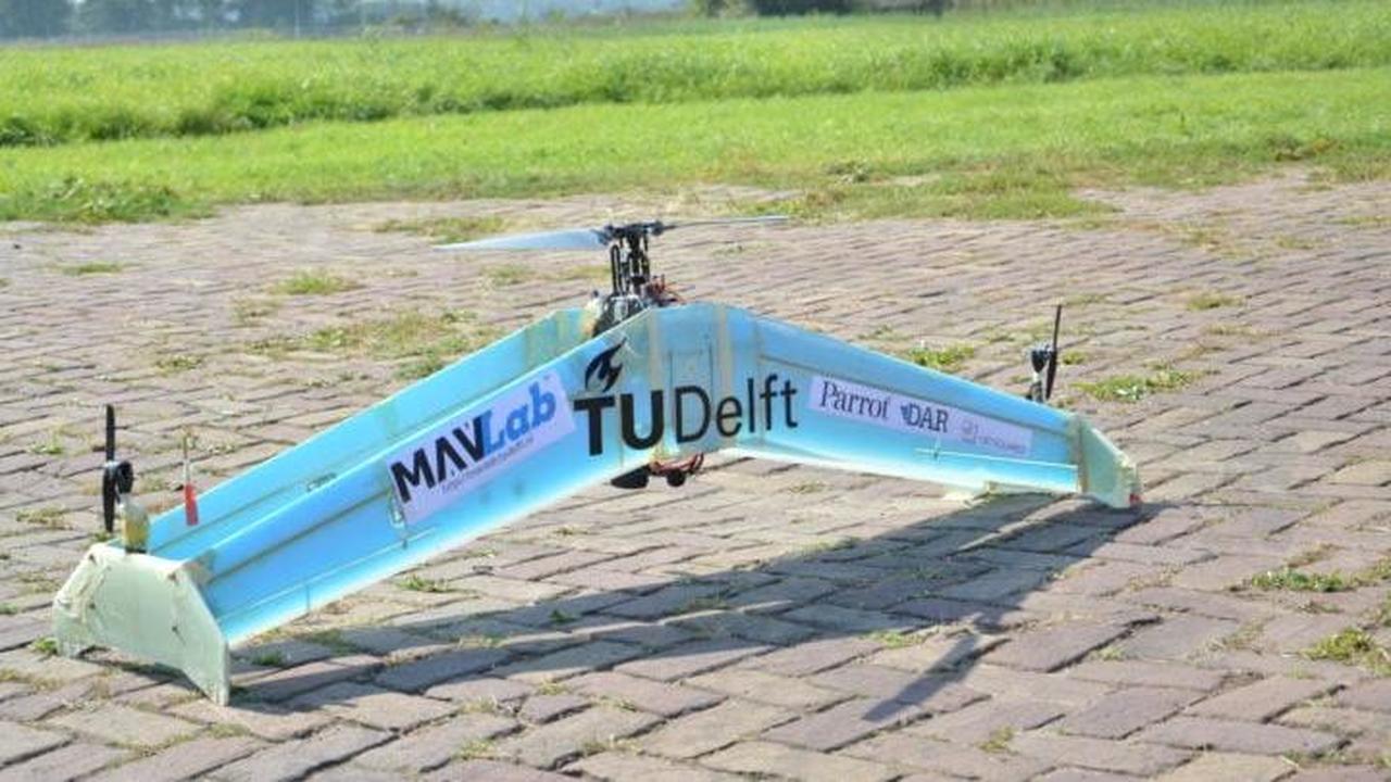 Гибридный дрон-спасатель объединил в себе самолёт и вертолёт