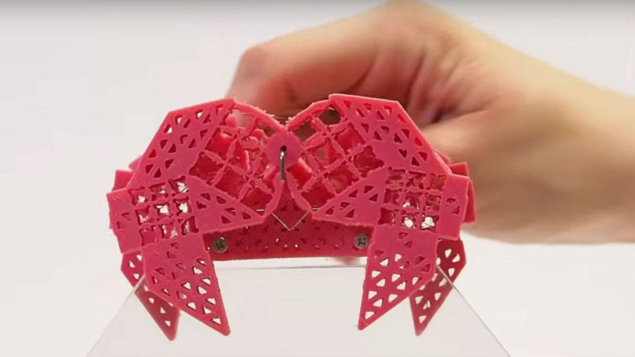 Напечатанные на 3D-принтере метаматериалы превратили в сложные механизмы
