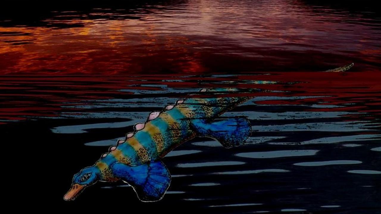 """Подслеповатая """"рептилия-утконос"""", жившая 250 миллионов лет назад, охотилась на ощупь"""