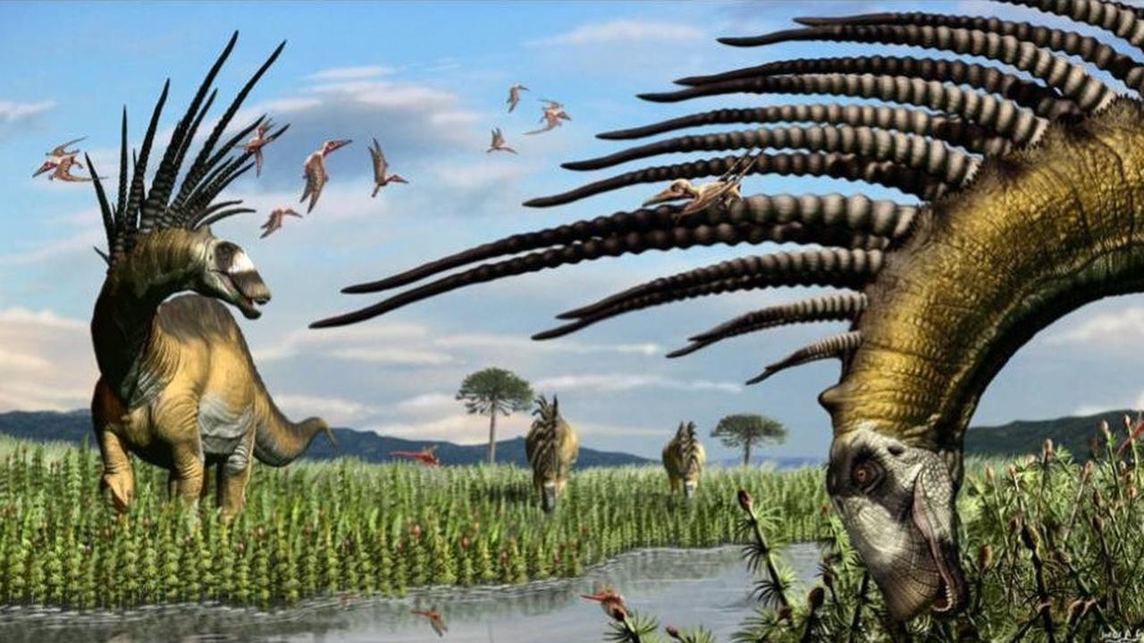 """Открыт новый вид динозавров с """"ирокезом"""" из огромных шипов"""