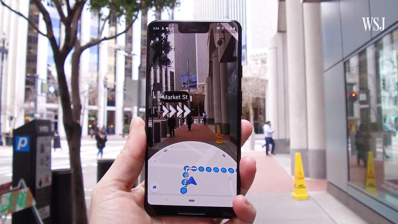 """Google тестирует в """"Картах"""" AR-навигацию"""
