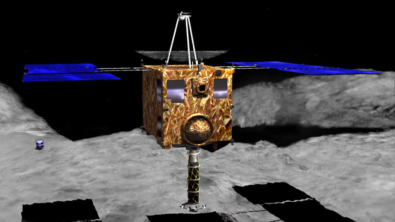 "Ну и дыра: зонд ""Хаябуса-2"" создал на поверхности астероида Рюгу неожиданно большой кратер"