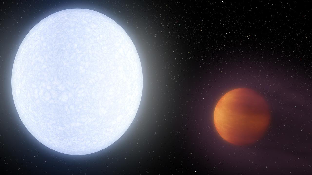 В атмосфере самой горячей экзопланеты найдены редкие элементы