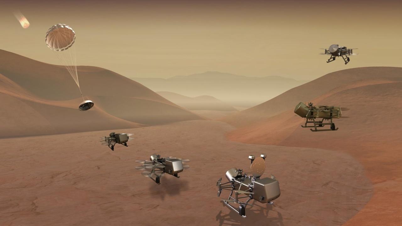 """НАСА отправит """"Стрекозу"""" искать жизнь на Титане"""
