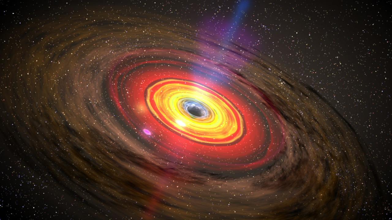 Обнаружена одна из самых больших чёрных дыр в видимой Вселенной