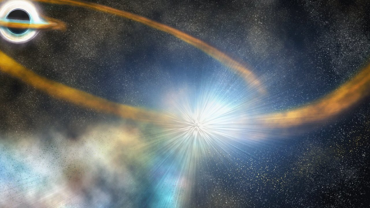 Астрономы впервые в подробностях увидели, как чёрная дыра разрывает звезду