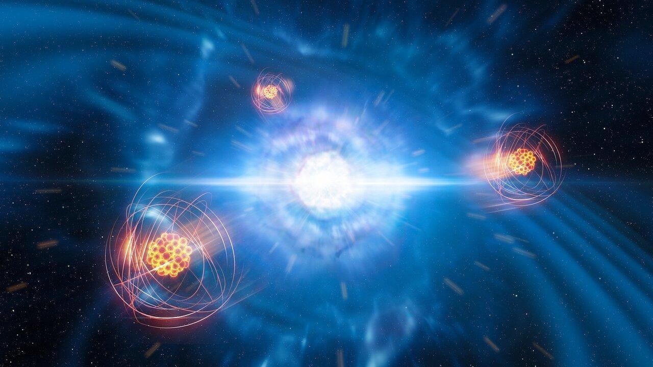 Свершилось: астрономы обнаружили стронций в месте столкновения нейтронных звёзд