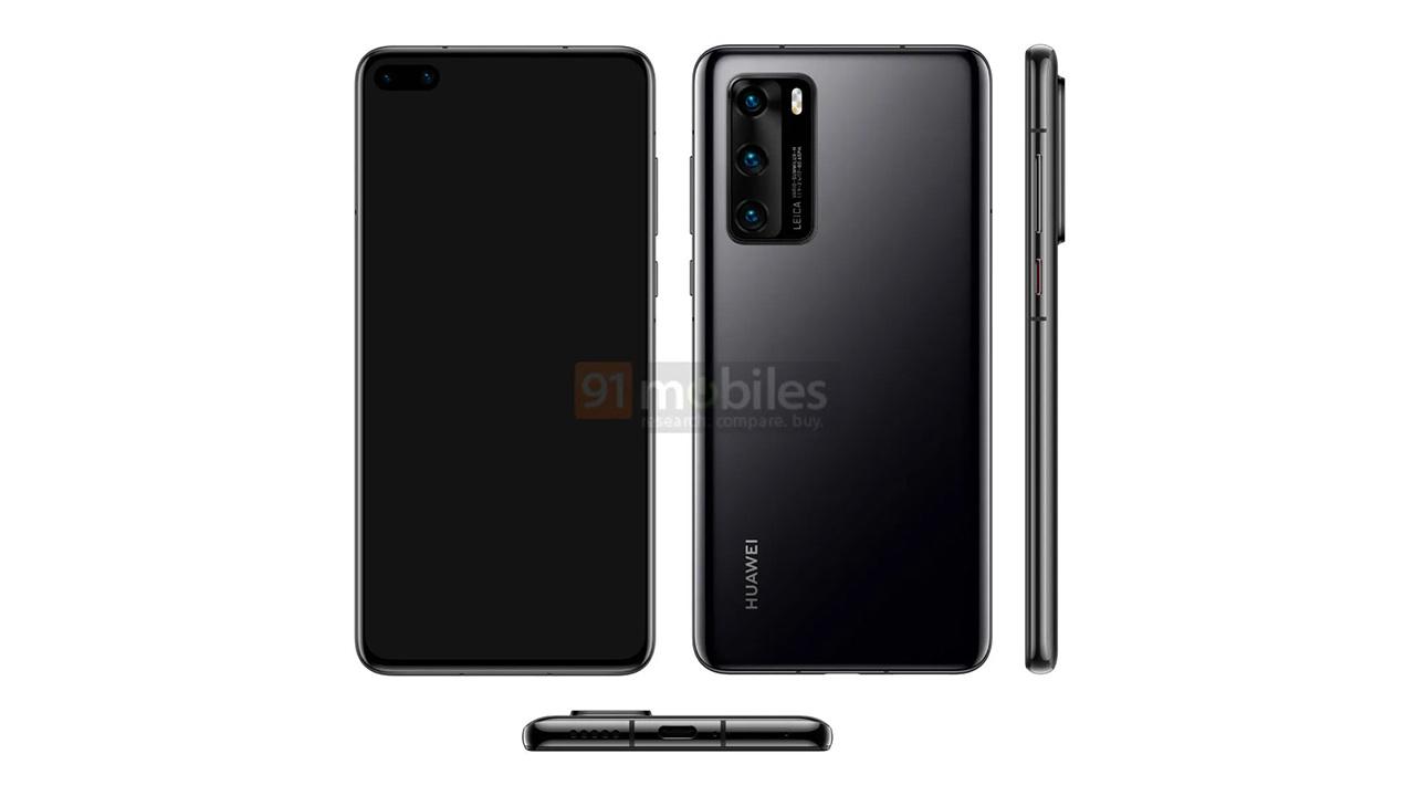 Опубликовано официальное изображение Huawei P40