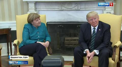 Трамп не пожал руку Меркель при встрече