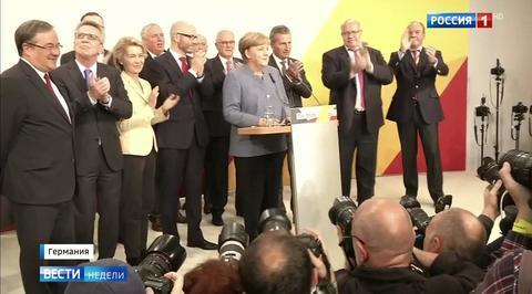 Немецкая шутка: прежде чем АдГ отмотает время назад, Меркель и Шульц его остановят