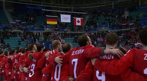 Торжественная часть награждения хоккеистов из России