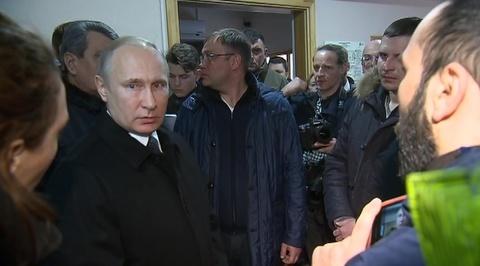 Встреча Владимира Путина с инициативной группой граждан в Кемерове