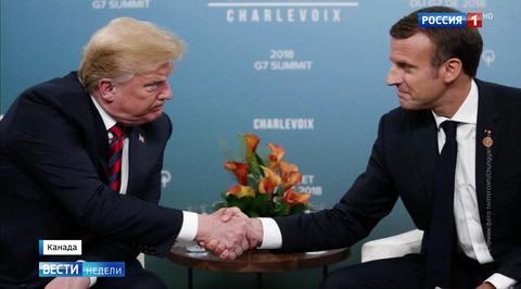 Сосиски и белые пятна: подробности общения Макрона с Трампом