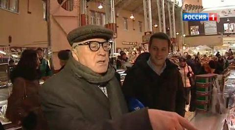 Киевляне встретили Жириновского как родного