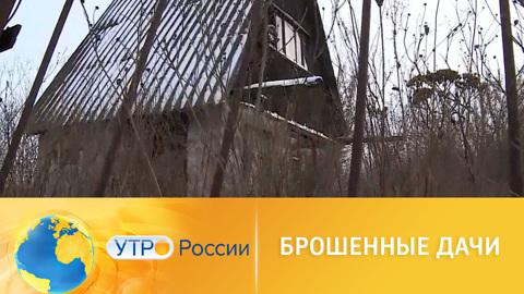 Утро России. Брошенные дачи
