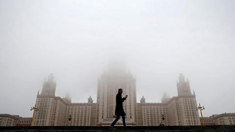 """Новости на """"России 24"""". Москва утонула в тумане"""