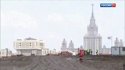 Началось строительство Научно-технологического центра МГУ